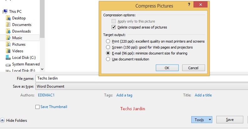 Compress MS Word File 1